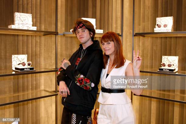 GabrielKane DayLewis and DJ of the event Cecile Togni attend the Max Mara 'Prism in Motion' Eventas with the presentation of the new collection...