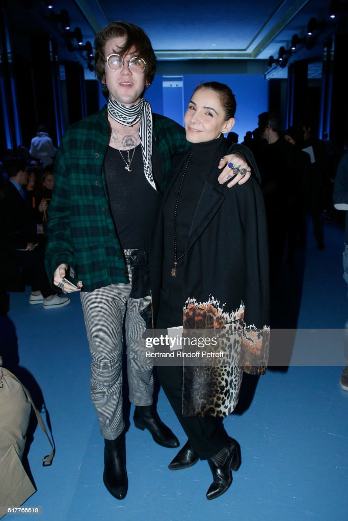 Gabriel-Kane Day-Lewis and Princess of Savoy, Clotilde Courau attend the Haider Ackermann show as part of the Paris Fashion Week Womenswear Fall/Winter 2017/2018 on March 4, 2017 in Paris, France.