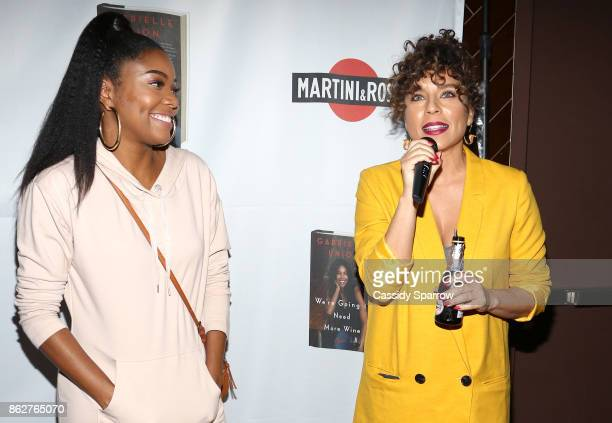 Gabriell Union and Nicole Lyn aka DJ Ms Mix attend the Martini Rossi Gabrielle Union Book Tour After Party at The Jimmy at the James Hotel on October...