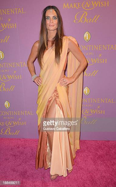 Gabriella Anwar arrives at 18th Annual InterContinental Miami MakeAWish Ball at Hotel intercontinental on November 3 2012 in Miami Florida
