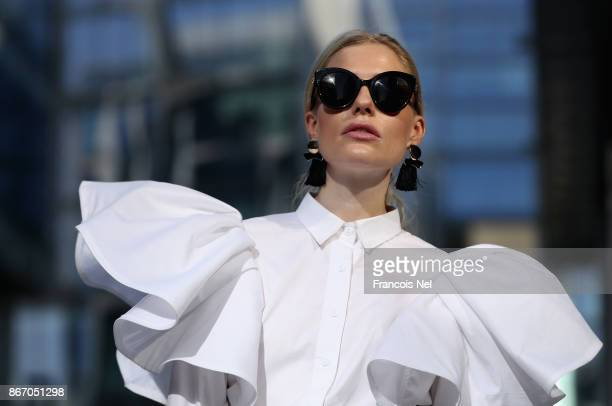 Gabriella Bjersland attends Day 2 of Fashion Forward October 2017 held at the Dubai Design District on October 27 2017 in Dubai United Arab Emirates
