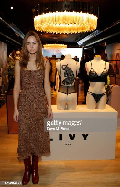 Gabriella Brooks Celebrates French Lingerie Label LIVY At The Victoria's Secret New Bond Street Store on February 20 2019 in London England