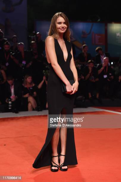 Gabriella Brooks walks the red carpet ahead of the Ad Astra screening during during the 76th Venice Film Festival at Sala Grande on August 29 2019 in...