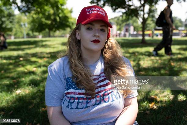 Gabriella Danilo from New Jersey poses for a portrait during the March For Our Rights rally promoting Second Amendment Rights and the safety of...