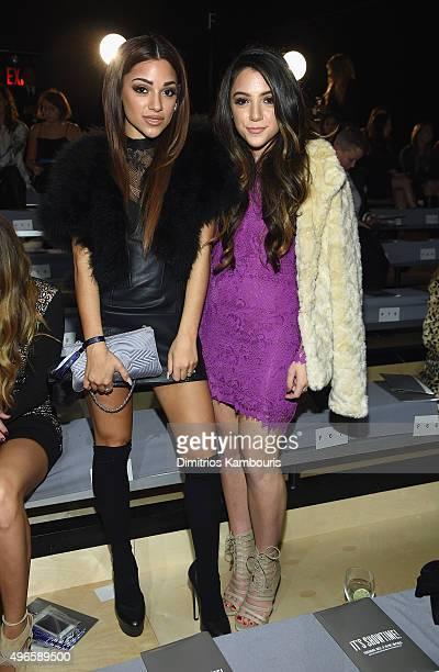 Gabriella DeMartino and Niki DeMartino attend the 2015 Victoria's Secret Fashion Show at Lexington Avenue Armory on November 10 2015 in New York City