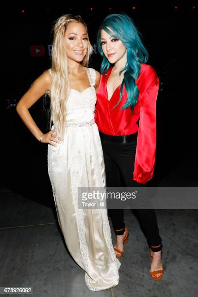 Gabriella Demartino and Niki Demartino of Niki Gabi attend YouTube #Brandcast presented by Google at Javits Center North on May 4 2017 in New York...