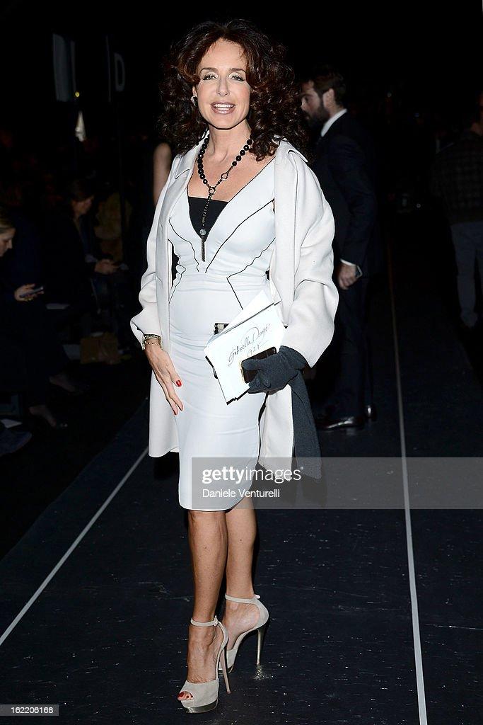 Gabriella Dompe attends the Alberta Ferretti fashion show as part of Milan Fashion Week Womenswear Fall/Winter 2013/14 on February 20, 2013 in Milan, Italy.