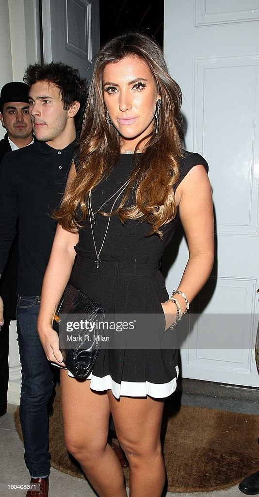 Gabriella Ellis attending the Diet Coke private party held at Sketch restaurant on January 30, 2013 in London, England.