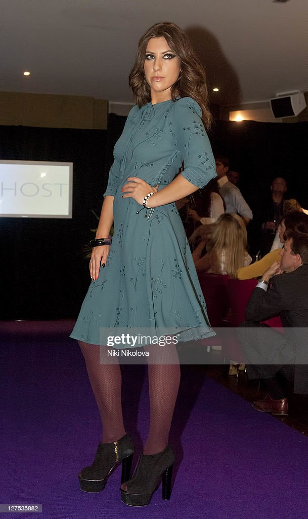 Gabriella Ellis Runway at beaufort house on September 28, 2011 in London, England.
