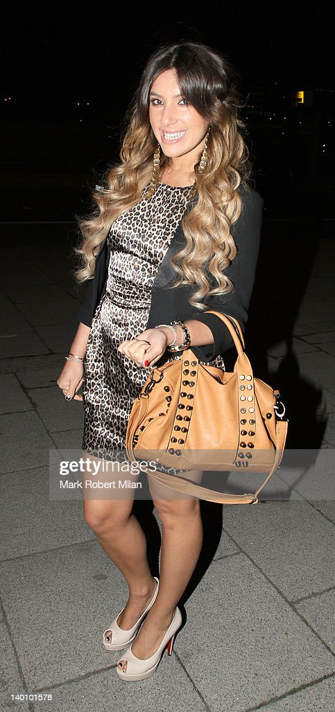Gabriella Ellis seen attending the Hair Awards 2012 at the Sky Bar, Millbank Tower on February 27, 2012 in London, England.