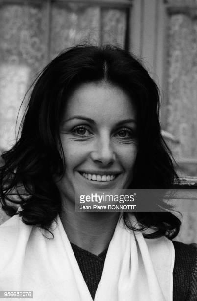 Gabriella Farinon sur le tournage du film 'Borsalino and Co' réalisé par Jacques Deray à Marseille en mai 1974 France
