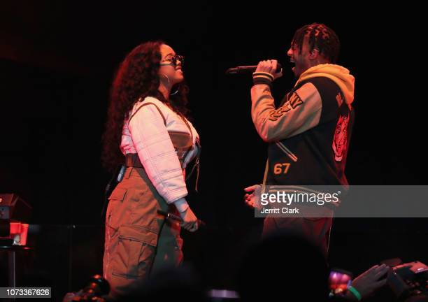 Gabriella 'Gabi' Wilson aka HER and Tone Stith perform onstage during the 'WANTED' Series presented by MWP Entertainment Group featuring HER at The...