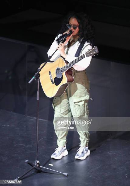Gabriella 'Gabi' Wilson aka HER performs onstage during the 'WANTED' Series presented by MWP Entertainment Group featuring HER at The Novo by...