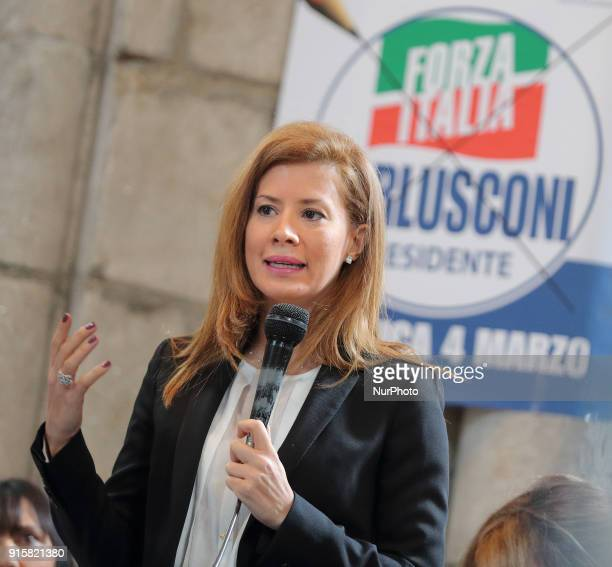 Gabriella Giammanco of Forza Italia party takes part at the presentation of Movement's Parliamentary candidates for the upcoming General election on...