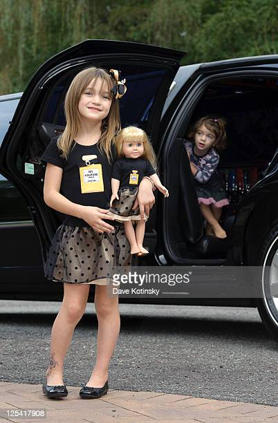 Gabriella Giudice and Audriana Giudice attend a portrait session at a private residence on September 16, 2011 in Towaco, New Jersey.