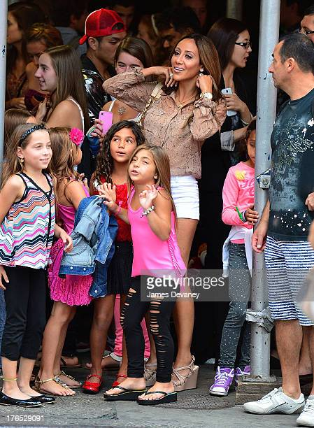 Gabriella Giudice Antonia Gorga Milania Giudice and Melissa Gorga seen on the streets of Manhattan after attending ANNIE the Musical on August 14...