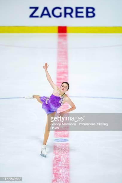 Gabriella Izzo of the United States competes in the Junior Ladies Short Program during the ISU Junior Grand Prix of Figure Skating Croatia Cup at Dom...