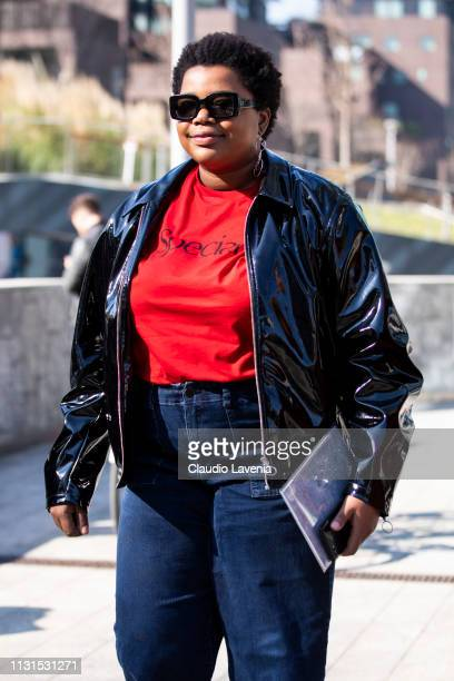 Gabriella Karefa Johnson is seen outside Sportmax on Day 3 Milan Fashion Week Autumn/Winter 2019/20 on February 22, 2019 in Milan, Italy.