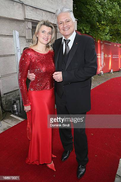Gabriella Knopp and Guido Knopp attend the 'Bayerischer Fernsehpreis 2013' at Prinzregententheater on May 17 2013 in Munich Germany