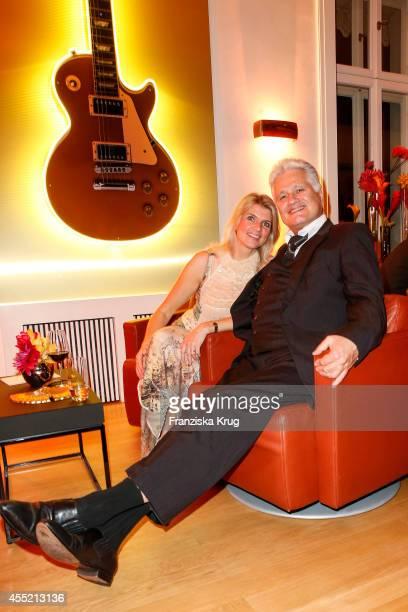 Gabriella Knopp and Guido Knopp attend the Bertelsmann Summer Party at the Bertelsmann representative office on September 10, 2014 in Berlin, Germany.