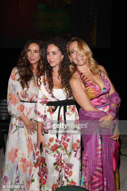 Gabriella Labate Bianca Riefoli and Barbara D'Urso attend 2017 Ischia Global Film Music Fest on July 9 2017 in Ischia Italy