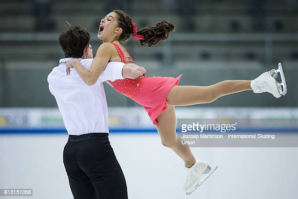 Gabriella Marvaldi and Daniel Villeneuve of the United States compete during the Junior Pairs Short Program on day two of the ISU Junior Grand Prix...