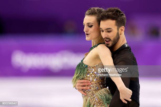 Gabriella Papadakis and Guillaume Cizeron of France compete during the Figure Skating Ice Dance Short Dance on day 10 of the PyeongChang 2018 Winter...