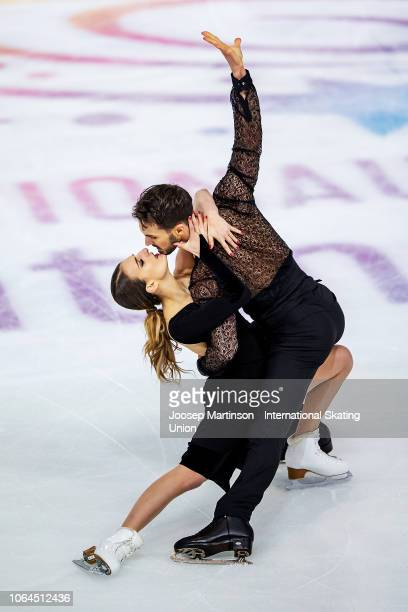 Gabriella Papadakis and Guillaume Cizeron of France compete in the Ice Dance Rhythm Dance during day 1 of the ISU Grand Prix of Figure Skating...