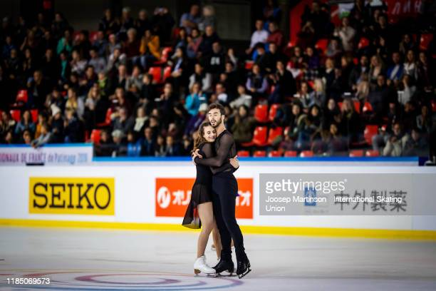 Gabriella Papadakis and Guillaume Cizeron of France compete in the Ice Dance Free Dance during day 2 of the ISU Grand Prix of Figure Skating...