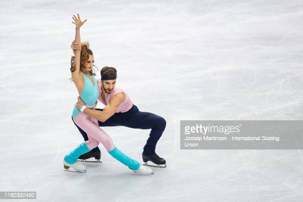 Gabriella Papadakis and Guillaume Cizeron of France compete in the Ice Dance Rhythm Dance during the ISU Grand Prix of Figure Skating Final at...