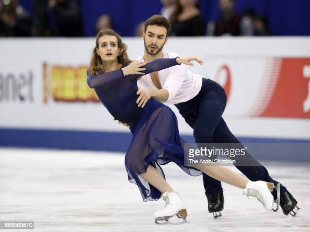 Gabriella Papadakis and Guillaume Cizeron of France compete in the Ice Dance Free Dance during day three of the ISU Junior Senior Grand Prix of...