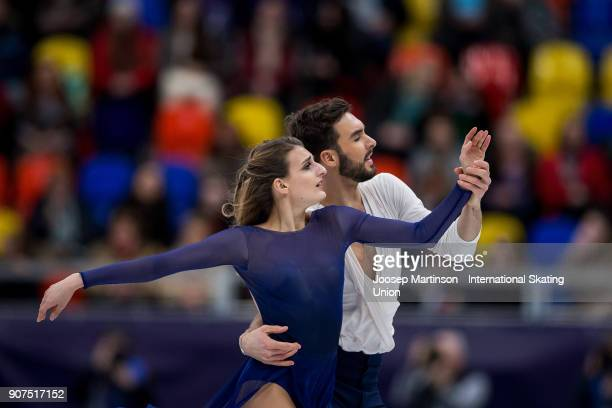Gabriella Papadakis and Guillaume Cizeron of France compete in the Ice Dance Free Dance during day four of the European Figure Skating Championships...