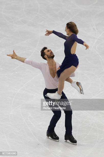 Gabriella Papadakis and Guillaume Cizeron of France compete in the Figure Skating Ice Dance Free Dance on day eleven of the PyeongChang 2018 Winter...