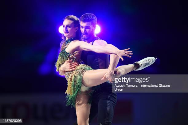 Gabriella Papadakis and Guillaume Cizeron of France perform during the exhibition gala on day five of the 2019 ISU World Figure Skating Championships...