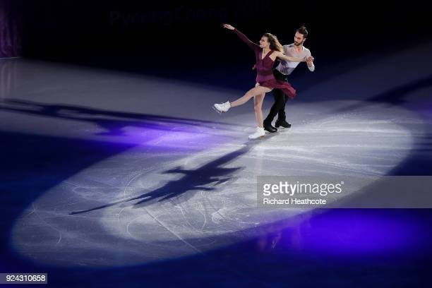 Gabriella Papadakis and Guillaume Cizeron of France perform during the Figure Skating Gala Exhibition on day 16 of the PyeongChang 2018 Winter...