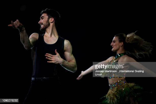 Gabriella Papadakis and Guillaume Cizeron of France perform in the Gala Exhibition during day five of the ISU European Figure Skating Championships...