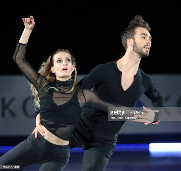 Gabriella Papadakis and Guillaume Cizeron of France perform in the gala exhibition during day four of the ISU Junior Senior Grand Prix of Figure...