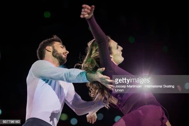 Gabriella Papadakis and Guillaume Cizeron of France perform in the Gala Exhibition during day five of the World Figure Skating Championships at...