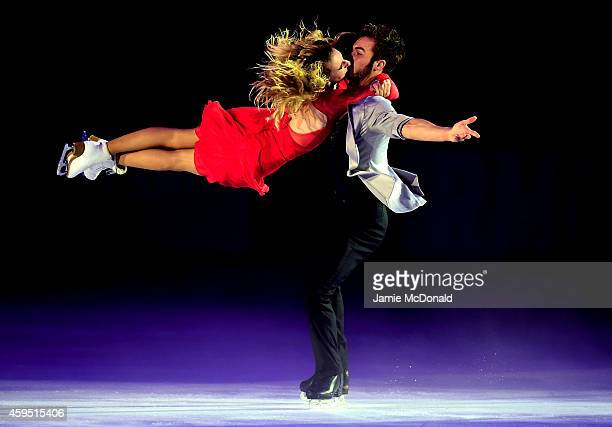 Gabriella Papadakis and Guillaume Cizeron of France performs during day three of Trophee Eric Bompard ISU Grand Prix of Figure Skating at the...