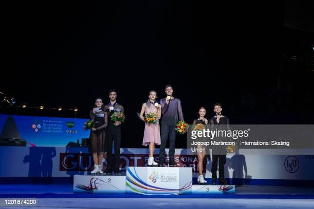 Gabriella Papadakis and Guillaume Cizeron of France, Victoria Sinitsina and Nikita Katsalapov of Russia, Alexandra Stepanova and Ivan Bukin of Russia...