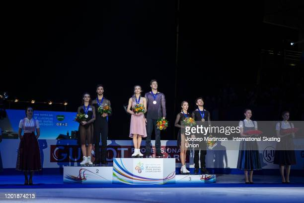 Gabriella Papadakis and Guillaume Cizeron of France Victoria Sinitsina and Nikita Katsalapov of Russia Alexandra Stepanova and Ivan Bukin of Russia...