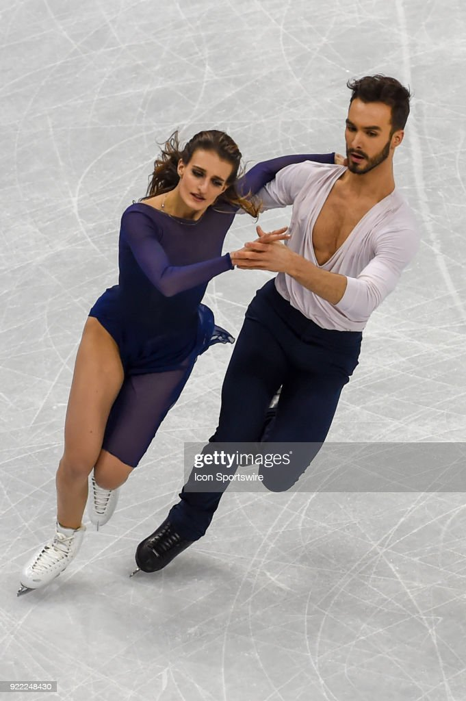 Gabriella Papadakis and Guillaume Cizeron (FRA) skate to the silver medal in Ice Dancing during the 2018 Winter Olympic Games at the Gangneung Ice Arena on February 20, 2018 in PyeongChang, South Korea.