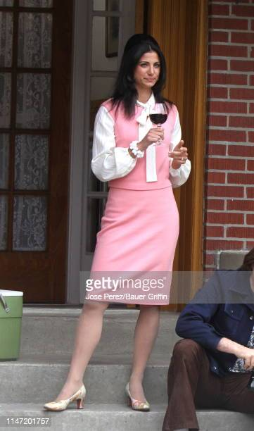 Gabriella Piazza is seen on the set of 'The Many Saints of Newark' on May 31, 2019 in New York City.