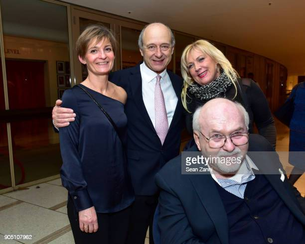 Gabriella Pivon Ivan Fischer Andrea Komadi and Dr Andrew Werner attend Friends of Budapest Festival Orchestra Gala 2018 at David Geffen Hall on...