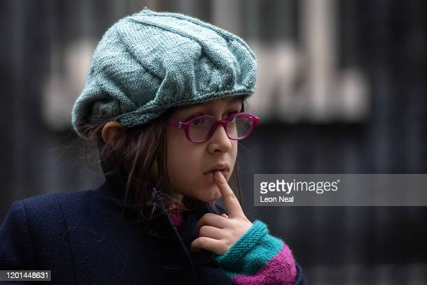 Gabriella Ratcliffe, the daughter of the jailed British-Iranian woman Nazanin Zaghari-Ratcliffe currently being held in Iran, listens to questions...