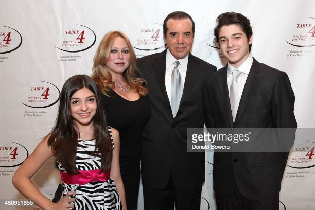 Gabriella Rose Gianna Ranaudo Lifetime Achievement Award recipient actor Chazz Palminteri and Dante Lorenzo attend the Table 4 Writers Foundation...