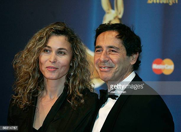 Gabriella Sontheim and Sat1 CEO Roger Schawinski arrive for the 57th annual Bambi Awards at the International Congress Center on December 01 2005 in...