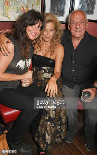 Gabriella Wesberry Suzanne Wyman and Johnny Gold attend Sticky Fingers' 28th Birthday hosted by Bill Wyman on July 6 2017 in London England