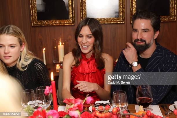 Gabriella Wilde Alexa Chung and Jack Guinness attend Alexa Chung's CHUNGSGIVING dinner to celebrate Thanksgiving and the launch of her exclusive...