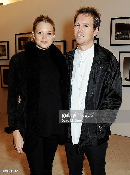 Gabriella Wilde and Alan Pownall attend a private view of Nikolai Von Bismarck's new photography exhibition 'In Ethiopia' at 12 Francis Street...